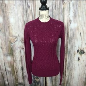 Joie Wool and Yak Cable Knit Sweater Small